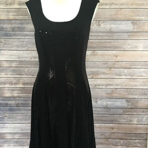 🔥Cocktail nice black dress Sz L/10 Conected